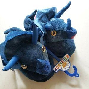 Build-a-Bear Kids Triceratops Dinosaur Slippers